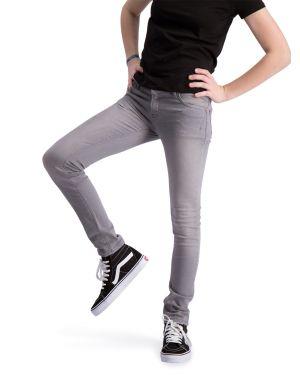 Impulse Gray - Stretch Denim Skinny Jeans